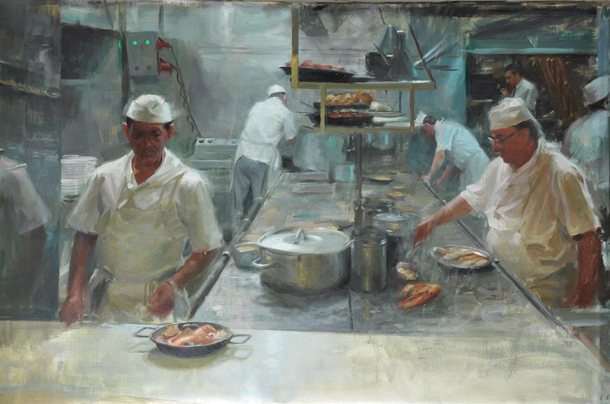 Kitchen at Los caracoles